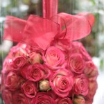 Bridesmaids spray rose pomander