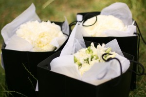Bouquets ready to go..